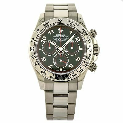 $ CDN34802.91 • Buy Rolex Daytona 116509 Black Dial 18k White Gold Men's Chronograph Watch