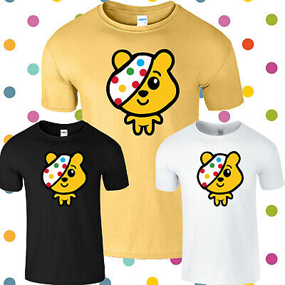 Spotty Day Mens T Shirt Children In Need Pudsey Bear Spot Kids Boys Girl Top Tee • 9.99£