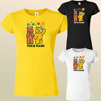 Spotty Pudsey Bear Ladies T Shirts Children In Need Adult Dotty Spot Top Shirt  • 10.99£
