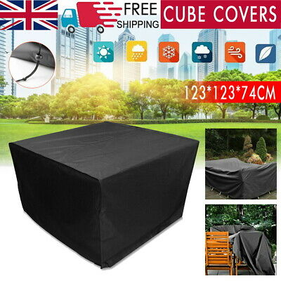Heavy Duty Garden Patio Furniture Table Cover For Outdoor Rattan Table Cube Set • 10.59£