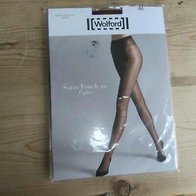 Wolford - Satin Touch 20 Denier Tights - Shade: Merlot - Size: M/14-16UK. • 9.99£