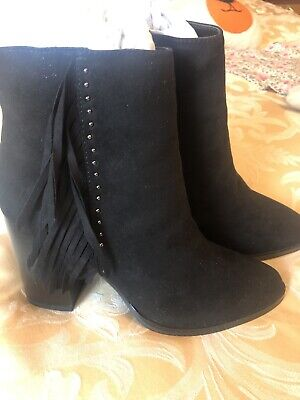 Brand New Red Herring Black Ankle Boots Size 6 • 9.99£