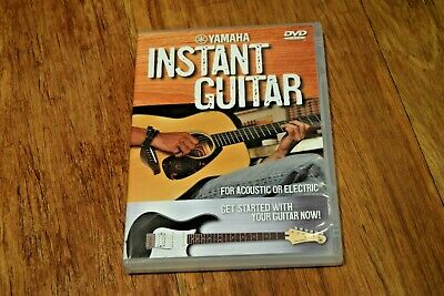 Yamaha Instant Guitar For Electric And Acoustic DVD Teach Yourself Learn VGC • 7.95£