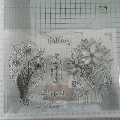 **CLEAR STAMPS***FLOWERS****Wedding*Birthday*Cards*Topper • 3.85£
