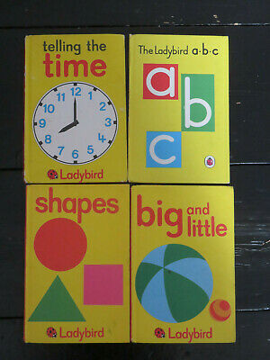 4 X Ladybird Books Matt Covers Series 622 Early Learning A.b.c. Shapes Big And  • 6.95£