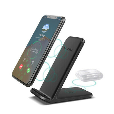 AU21.58 • Buy 2In1 Qi Wireless Charger Dock Stand For AirPods IPhone 12 11 X Samsung S20 Buds