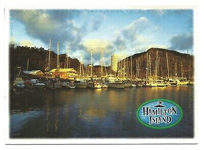 AU5.75 • Buy QLD - C1990s POSTCARD - THE MARINA & YACHT HARBOUR TOWER, HAMILTON ISLAND, QLD