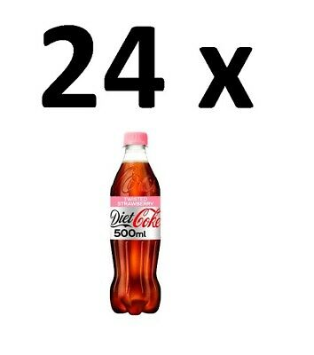 24 X Diet Coke Twisted Strawberry Soft Drink 500ml FULL CASE BBE 31/01/21 CHEAP • 19.99£