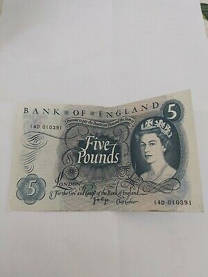 BANK OF ENGLAND FIVE POUND NOTE Page. 14D 010391 Crispy • 5.75£