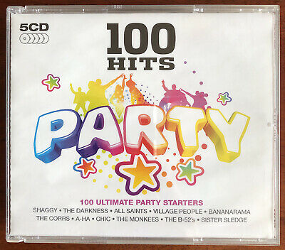 Various Artists - 100 Hits - Party (2008) 5xCDs • 3.99£