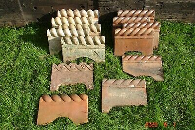 Mixed Lot Of Victorian Rope Top Path Edging Tiles • 5£