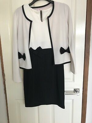 Cream And Black Dress And Jacket Size M • 8£