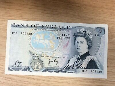 Uncirculated £5 Five Pound Note 04Y 254129 : PAGE : DUKE Of WELLINGTON  : • 4.06£
