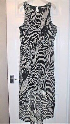 New Look Animal Print High Low Hem Dress ~ Size 16 ~ Excellent Condition • 9.99£