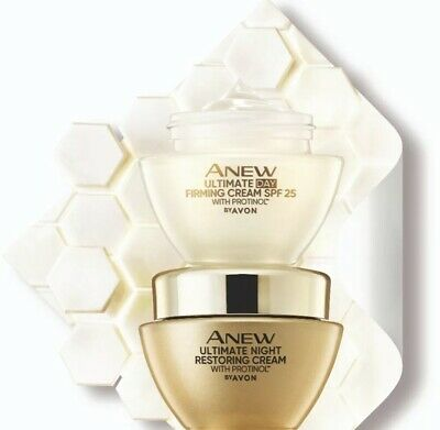 Avon Anew ULTIMATE Set Of 2 DAY And NIGHT Cream NEW And Sealed 50ml Each • 16.85£