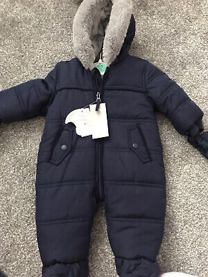 💙 Boys Snowsuit/ Pramsuit 0-3 Months Brand New With Tags 💙 • 7£