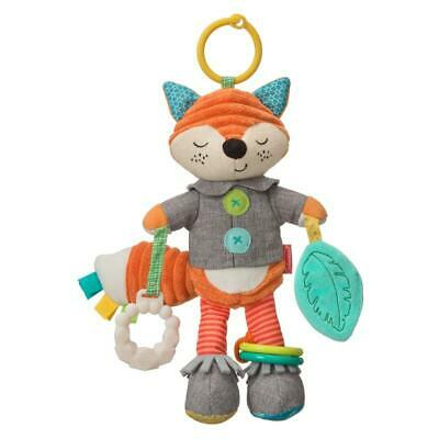 Infantino Playtime Pal Fox, Multi-Sensory Soft Fabric Baby Toy With Link Ring • 20.99£