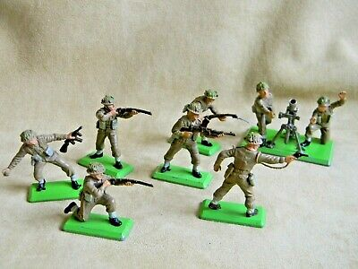 Britains 1971 Deetail 1/32 WW2 British Infantry Soldiers Set Of 6 + Mortar  • 12.99£