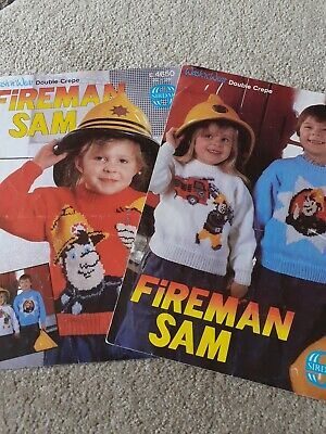 Sirdar Fireman Sam Children's Sweater Knitting Patterns X 2 • 0.99£