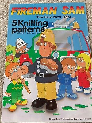 Gary Kennedy Intarsia Fireman Sam Sweater Knitting Pattern Booklet  • 0.99£