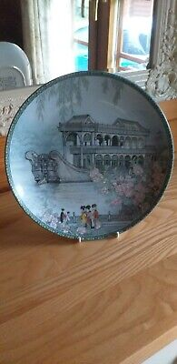 Imperial Jingdezhen Plate Porcelain Scenes From Summer Palace The Marble Boat. • 4£