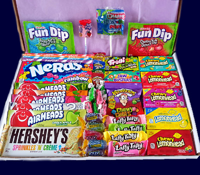 £10.99 • Buy American Sweets Box Candy Box - 47 ITEMS - Gift Box - US Candy Hamper - Present