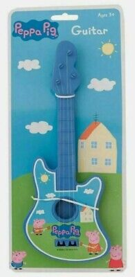 LARGE NEW PEPPA PIG STRING GUITAR MUSIC SET Children Kids Musical INSTRUMENT TOY • 4.99£