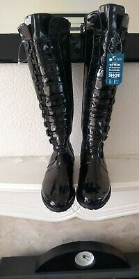 Pavers Black Patent Boots Size 5 NEW!!!!  • 19£