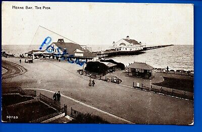 1923 Postcard Pier Herne Bay Kent Nr Chestfield Whitstable Reculver Birchington • 0.99£