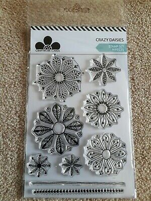 Craftwork Cards Crazy Daises Clear Stamp Sets *NEW* 9 Stamps Flowers  • 3.99£