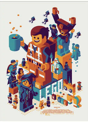 THE LEGO MOVIE By Tom Whalen Mondo Limited Edition Poster Print SOLD OUT! • 150£