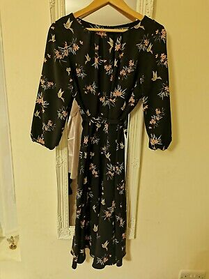 Billie And Blossom Bird Print Midi Dress, Size 16 • 9.50£