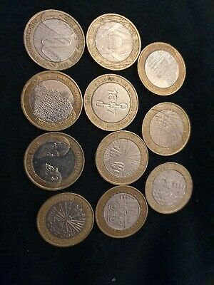 Rare Huge 2 Pound Coin Bundle Job Lot 11 Coins Florence DNA 1807 DICKENS DARWIN • 36£