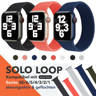 $ CDN10.64 • Buy Apple Watch 6 Braided Silicone Solo Loop Strap Band IWatch Bands Series 6 SE 5
