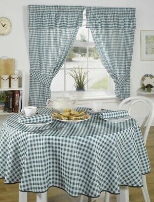 Classic Modern Gingham Check Curtains Kitchen Set Pure Cotton Readymade Curtains • 18.95£