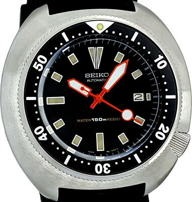 $ CDN1.30 • Buy Vintage SEIKO Diver Big 49mm TURTLE 316L SS Case Mod With Genuine 7002 Movt/dial