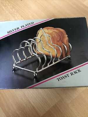 Vintage Silver Plated Toast Rack - Boxed • 6£