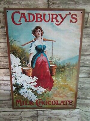 £12.95 • Buy Vintage Style Cadburys Milk Chocolate Advertising Metal Sign Jeebsters Australia