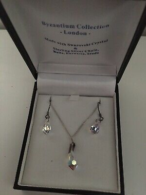 Swarovski Crystal/sterling Silver Jewellery Set • 24.99£