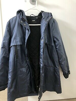 AU9 • Buy Asos Navy Raincoat