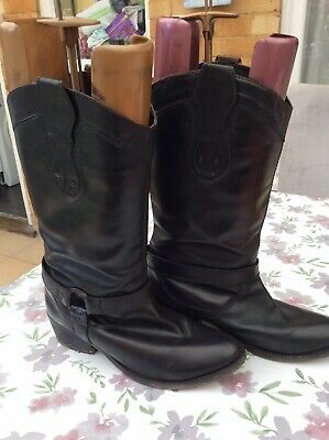 Red Herring Ladies Leather Cowboy Boots Size 7 • 10£