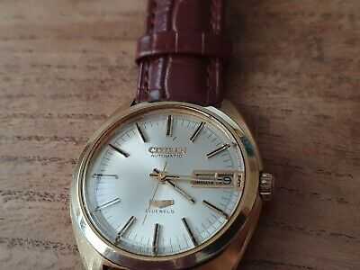 Vintage 1970s Gents Day Date Citizen 21 Jewels Automatic Gold Plated Watch. • 75£