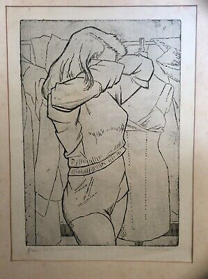 CLIFFORD HALL Pencil Signed Ltd Edition 6 Of 20 Print 'at The Dressmakers' • 125£