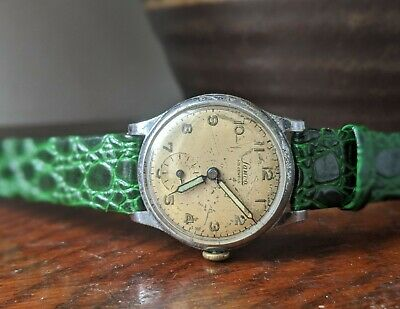 Vintage Lanco Military Style 1940s Wind Up Watch Luminous Fingers - Working • 59.95£