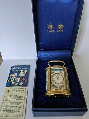 Halcyon Days Enamels Quartz Carriage Clock. Boxed • 50£