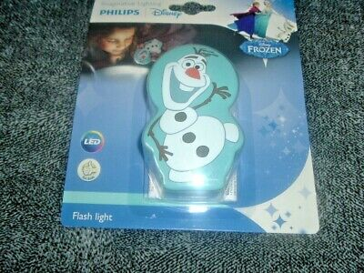 Philips LED DISNEY FROZEN OLAF Children's SAFE Torch And Night Light  NEW • 4.90£