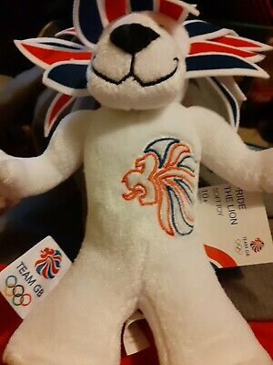 Team GB Plush Lion London 2012 Olympics Pride The Lion Mascot Very Good Cond • 3£