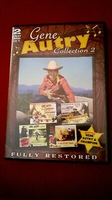 Gene Autry Collection 2 Dvd 2 Disc Set 4 Films Fully Restored As New • 7.99£