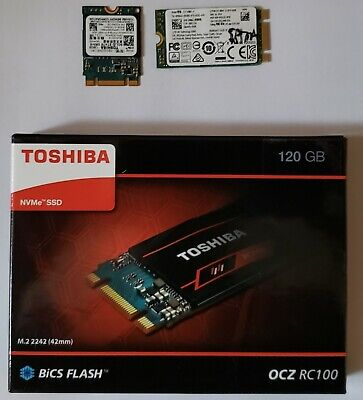 $ CDN99.99 • Buy Lot Of 3 M.2 2242 SSD's - Toshiba RC100 120GB New In Box + 128GBToshiba  + 64GB