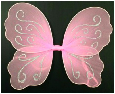 Small Pink Butterfly Angel Glitter Fairy Wings For Girls / Children • 3.96£